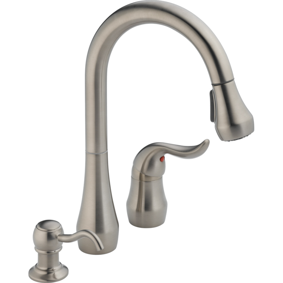moen kitchen faucets lowes tile home depot shop peerless stainless 1-handle pull-down faucet ...