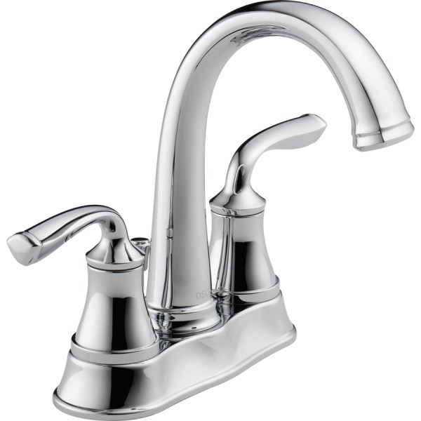 delta bathroom faucets chrome Shop Delta Lorain Chrome 2-Handle 4-in Centerset
