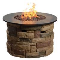 Shop allen + roth Canyon Ridge 36.6-in W 50,000-BTU Stone ...