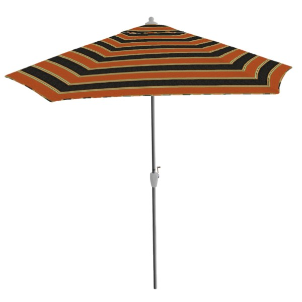 Black White Striped Patio Umbrella
