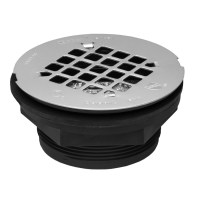 Shop Oatey Fits Pipe Size 4.25-in Dia Black ABS Shower ...
