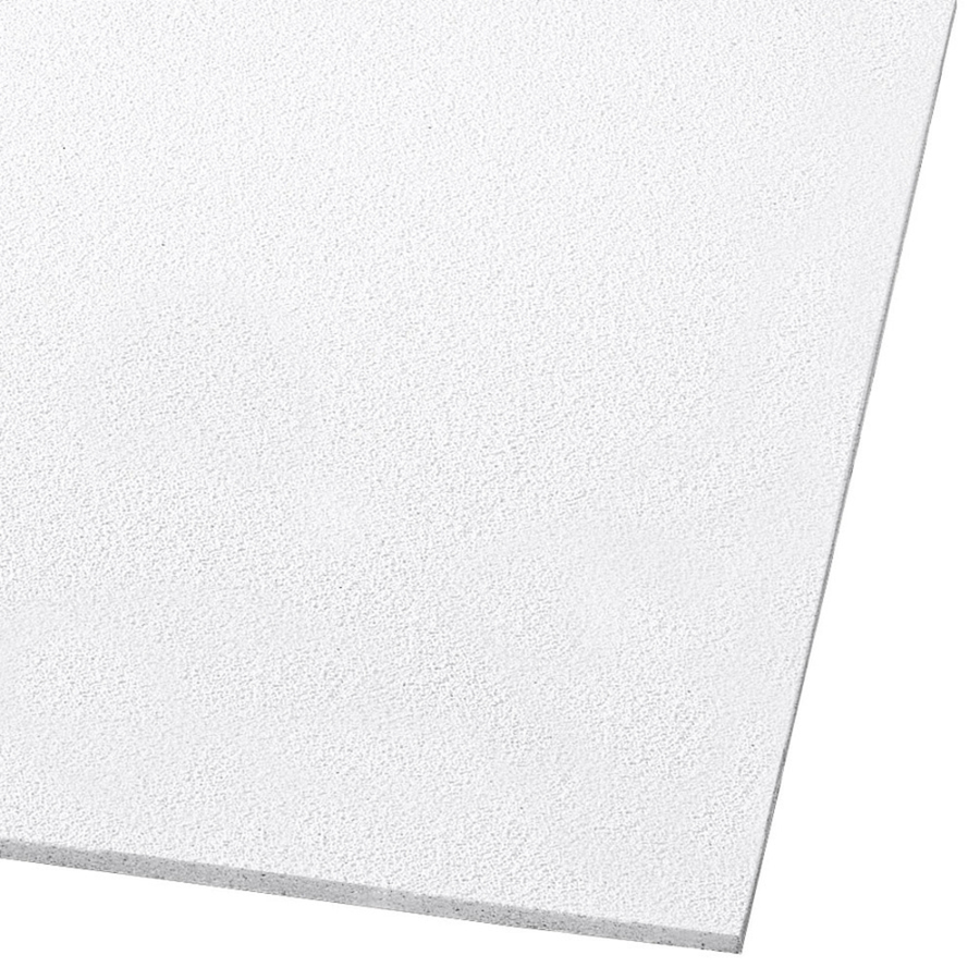armstrong ceilings armstrong ceilings 48 in x 24 in dune 8 pack white smooth 15 16 in drop acoustic panel ceiling tiles 1773a from lowe s