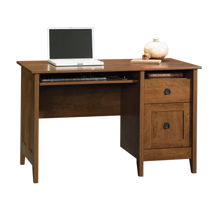 Shop Sauder August Hill Oiled Oak Computer Desk at Lowescom