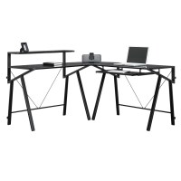 Glass L Shaped Desk