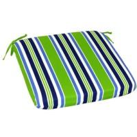 Garden Treasures River Front Green Reversible Indoor/Outdoor Seat Pad