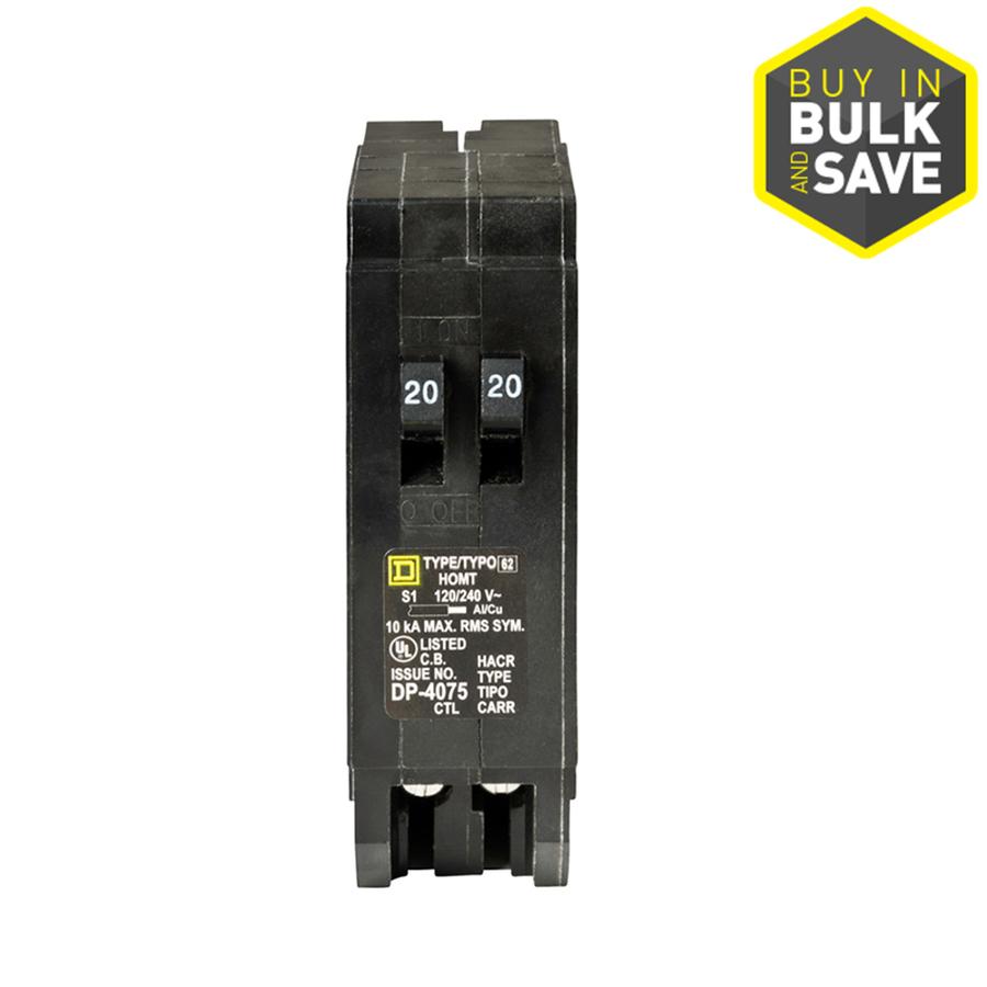 hight resolution of shop square d homeline 20amp tandem circuit breaker at lowescom