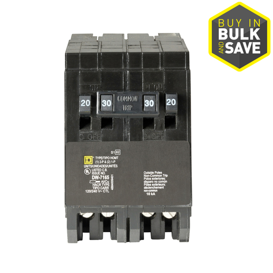 hight resolution of shop square d homeline 30amp quad circuit breaker at lowescom