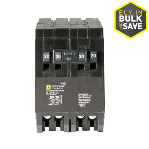 small resolution of shop square d homeline 30amp quad circuit breaker at lowescom