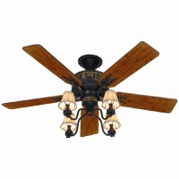 Shop Hunter 52-in Adirondack Bronze Ceiling Fan with Light ...