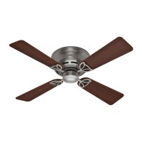 Shop Hunter 42-in Low Profile III Antique Pewter Ceiling ...