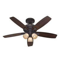 Shop Hunter 52-in Winslow New Bronze Ceiling Fan with ...