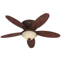 Hunter Avignon 52 in Tuscan Gold Flush Mount Ceiling Fan ...