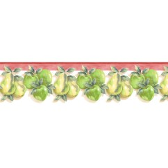 Wall Paper Borders For Kitchens Kitchen Ideas And Designs Border Wallpaper 2017 Grasscloth Style Apple Pear Prepasted At Lowes Com