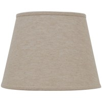 Shop allen + roth 11-in x 15-in Natural Linen Fabric Drum ...
