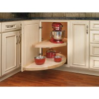 Shop Rev-A-Shelf 2-Tier Wood Half Moon Cabinet Lazy Susan ...
