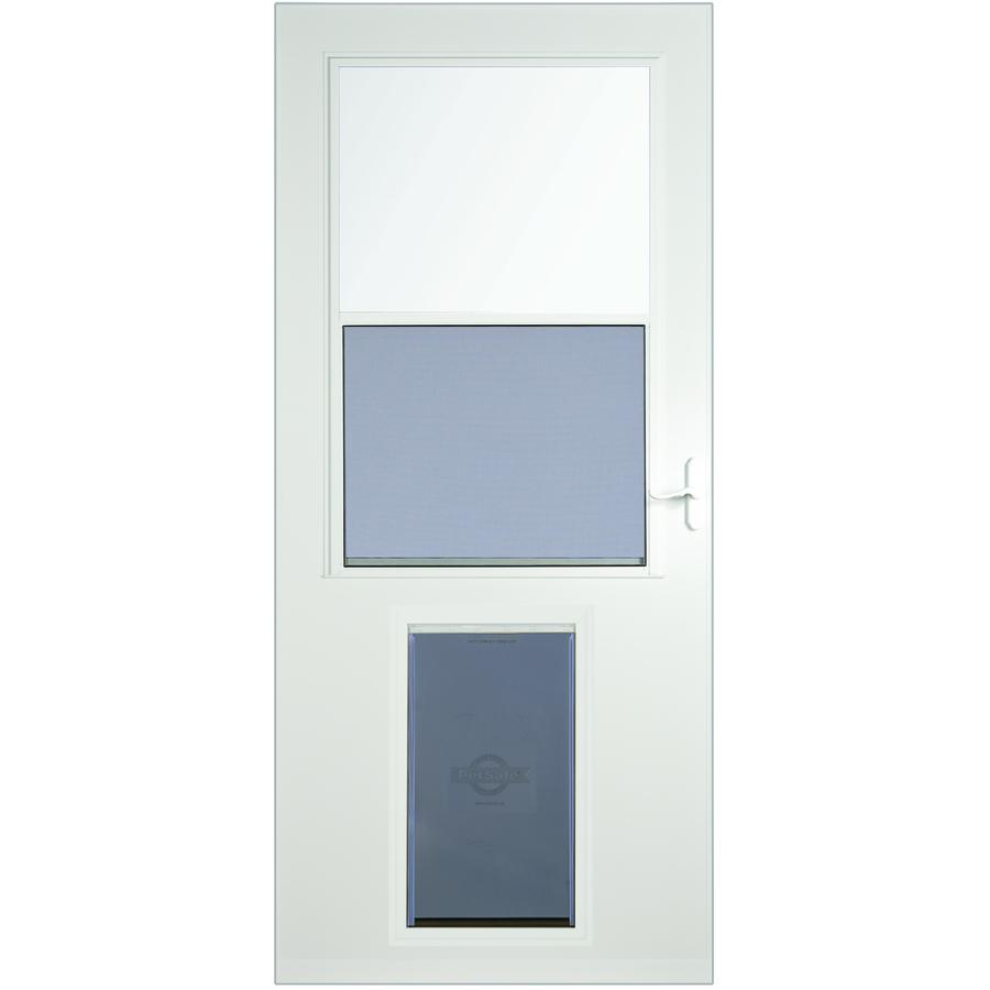 Shop Larson Pet Door Xl White High View Tempered Glass