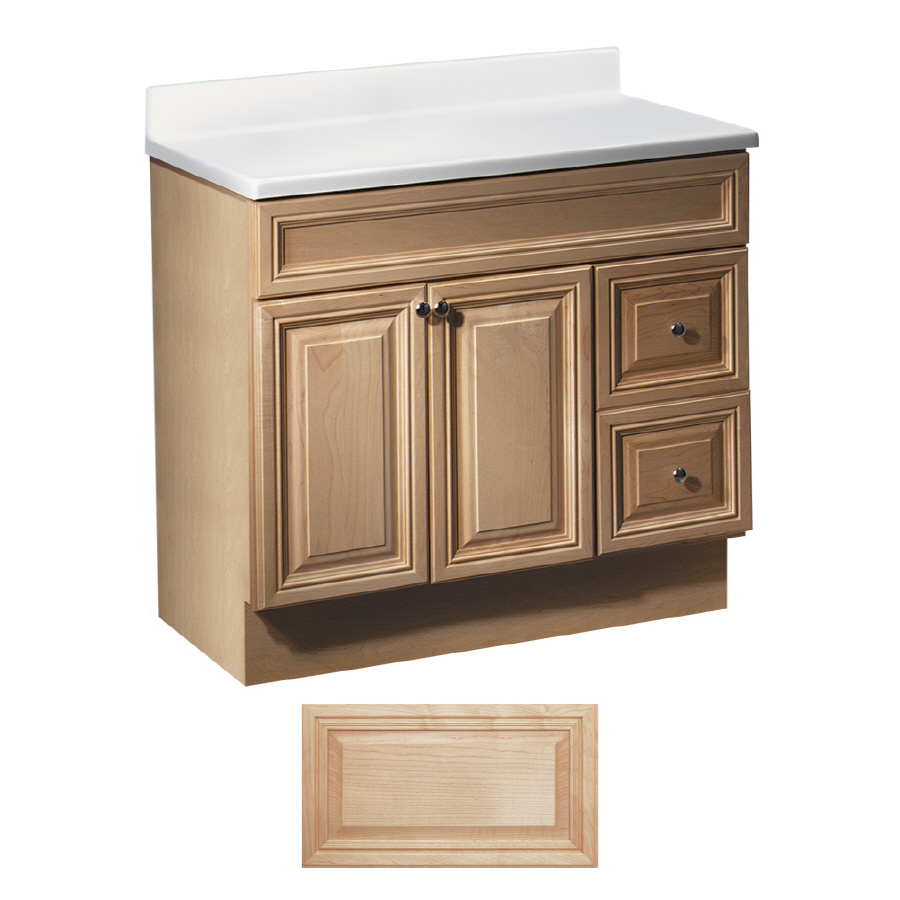 Shop Insignia Ridgefield Natural Maple Traditional Bathroom Vanity Common 36in x 21in