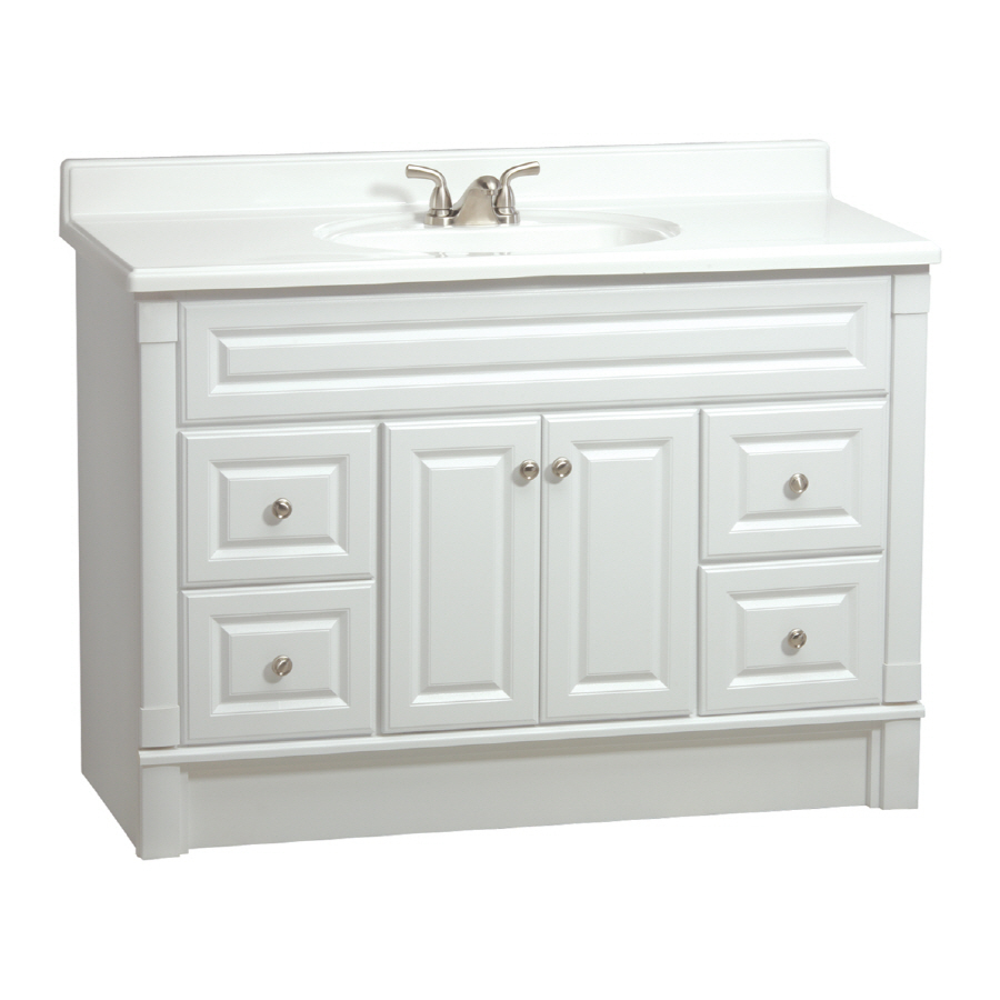 Shop ESTATE by RSI Southport White Casual Bathroom Vanity Actual 48in x 21in at Lowescom