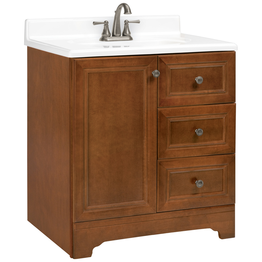 Shop ESTATE by RSI Wheaton Chestnut Traditional Bathroom