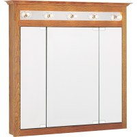 in x 36in Oak Lighted Oak Surface Mount Medicine Cabinet ...