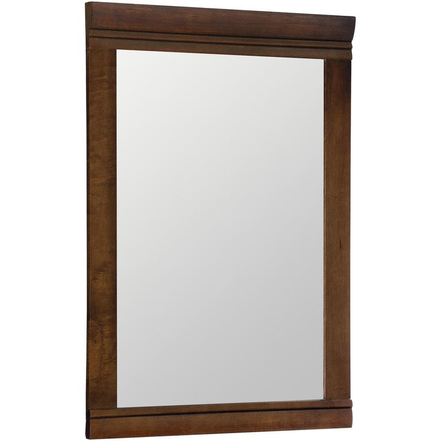 Shop Style Selections Windell 295in H x 205in W Auburn Rectangular Bathroom Mirror at Lowescom