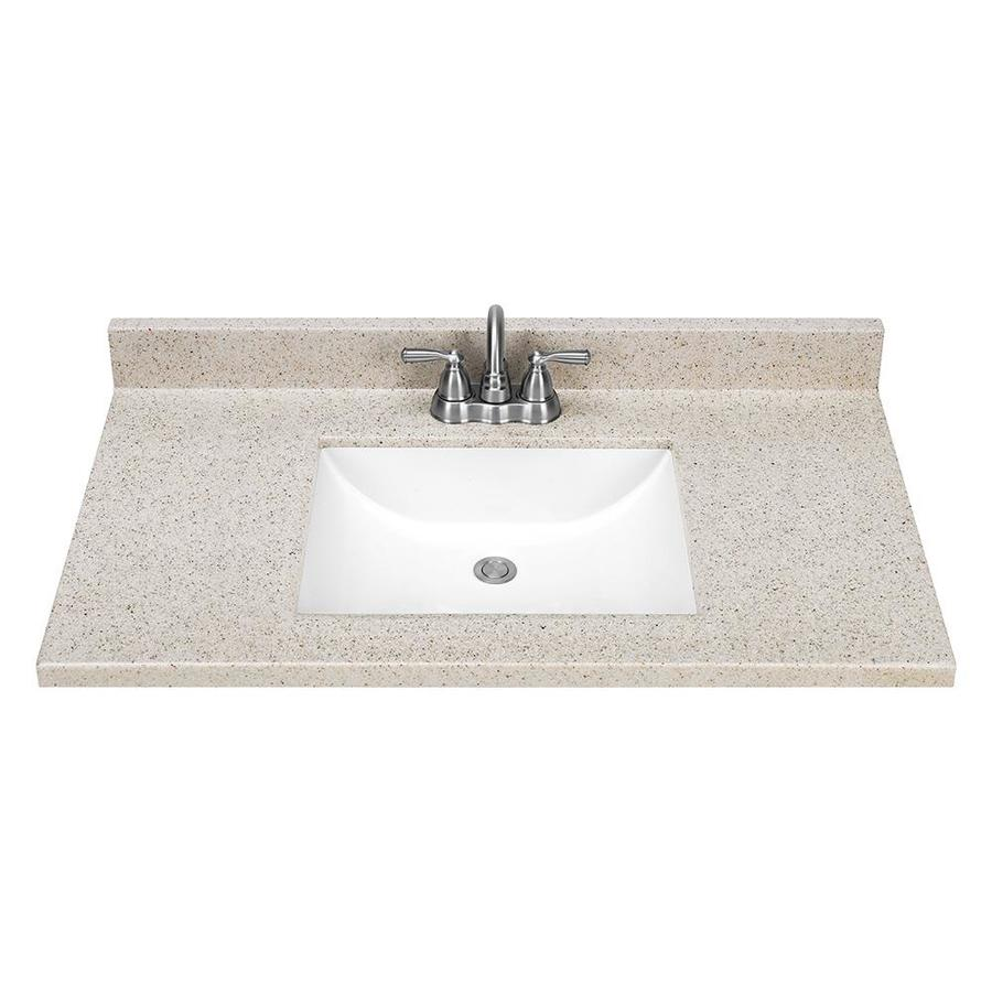Shop Style Selections Dune Solid Surface Integral Single
