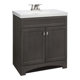Style Selections Drayden Grey Integral Single Sink Bathroom Vanity with Cultured Marble Top (Common: 31-in x 19-in; Actual: 30.5-in x 18.75-in)