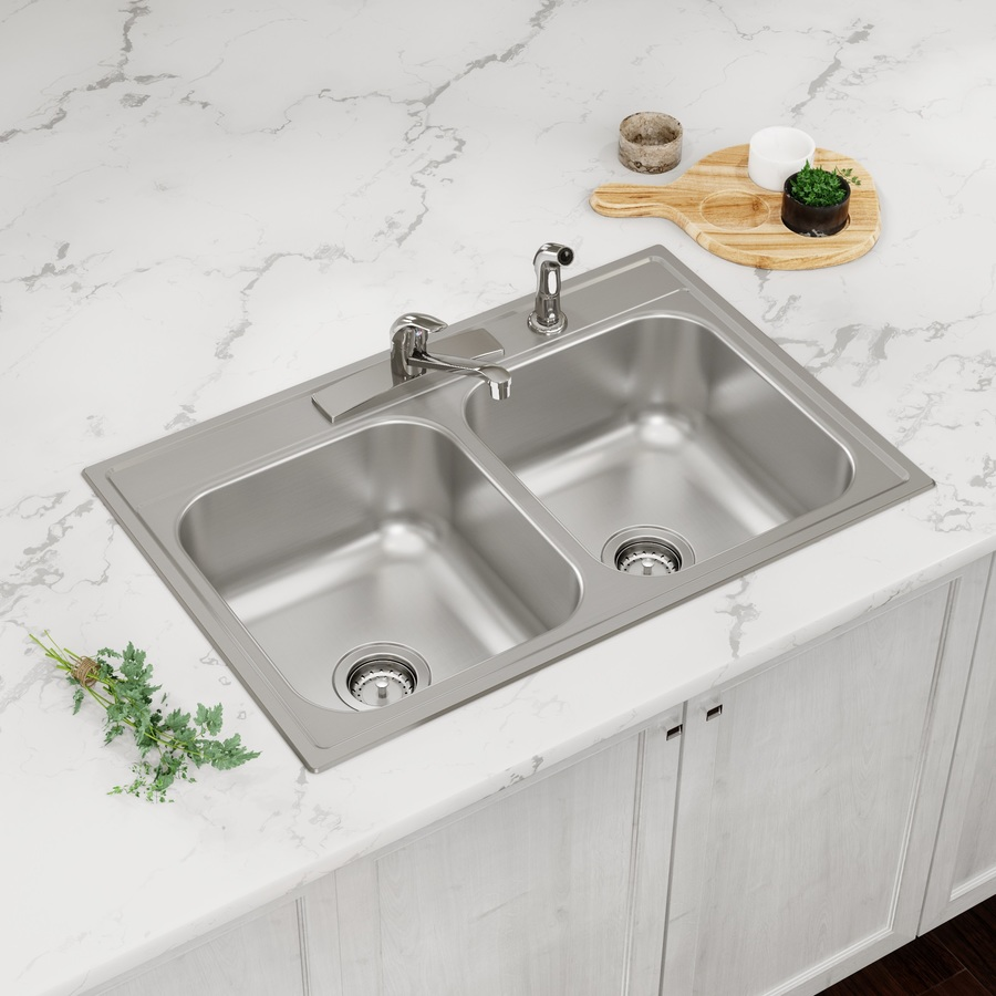 all in one kit kitchen sinks at lowes com