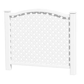 Shop Barrette White Vinyl Decorative Metal Fence Panel at