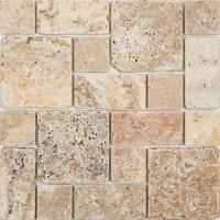 Shop Anatolia Tile Scabos Natural Stone Mosaic Wall Tile ...
