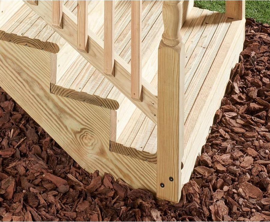 Severe Weather 3 Step Pressure Treated Pine Deck Stair Stringer In   3 Step Wooden Stairs   2 Step   Easy   Stringer   Tread   Outside