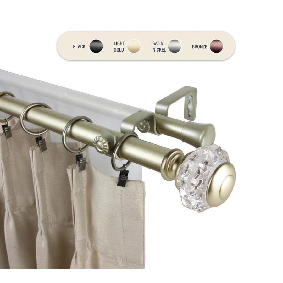 hart harlow hart harlow 1 in sabine 160 in to 240 in light gold steel double curtain rod l100 59 1603 d from lowe s sportspyder