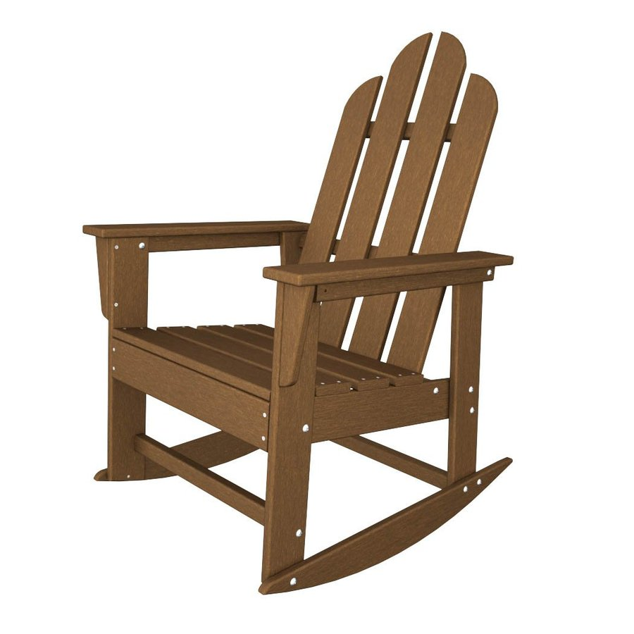 Lowes Rocking Chairs Mfg Corp Earth Brown Resin Stackable Adirondack Chair At Lowes