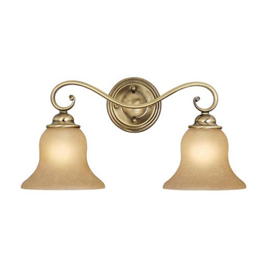 Shop Cascadia Lighting 2Light Monrovia Antique Brass