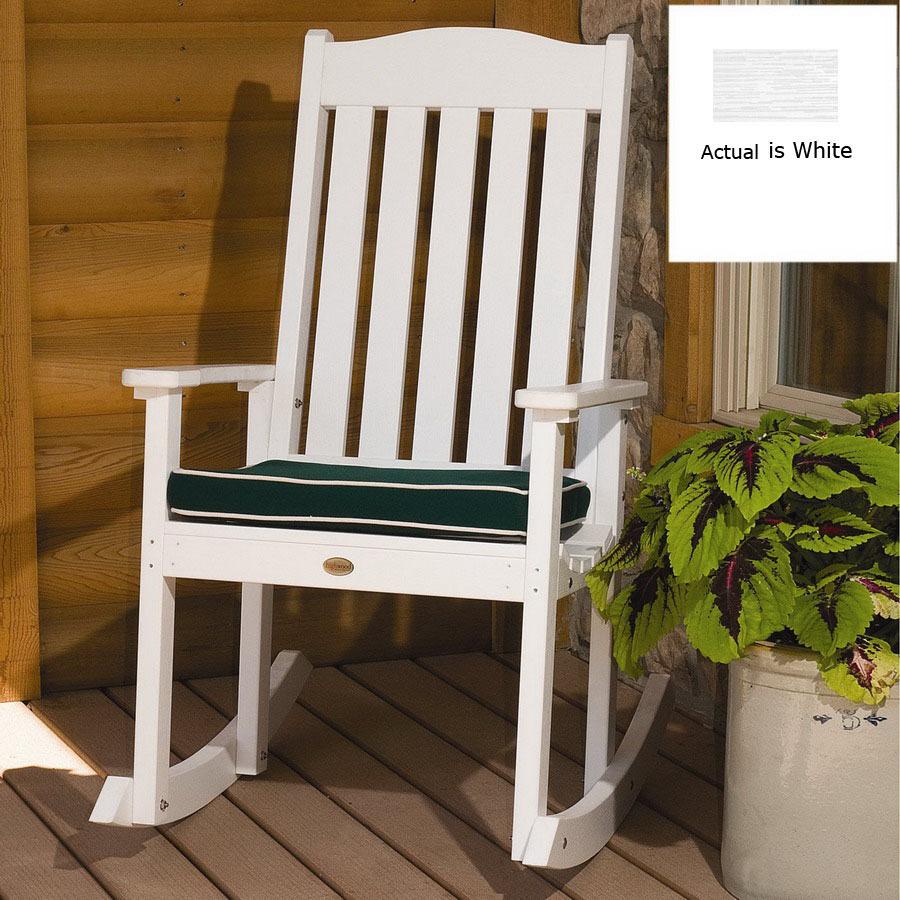 Shop Highwood USA White Wood Slat Seat Outdoor Rocking
