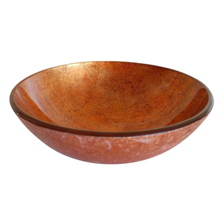 Shop Eden Bath Orange Glass Round Vessel Sink at Lowescom