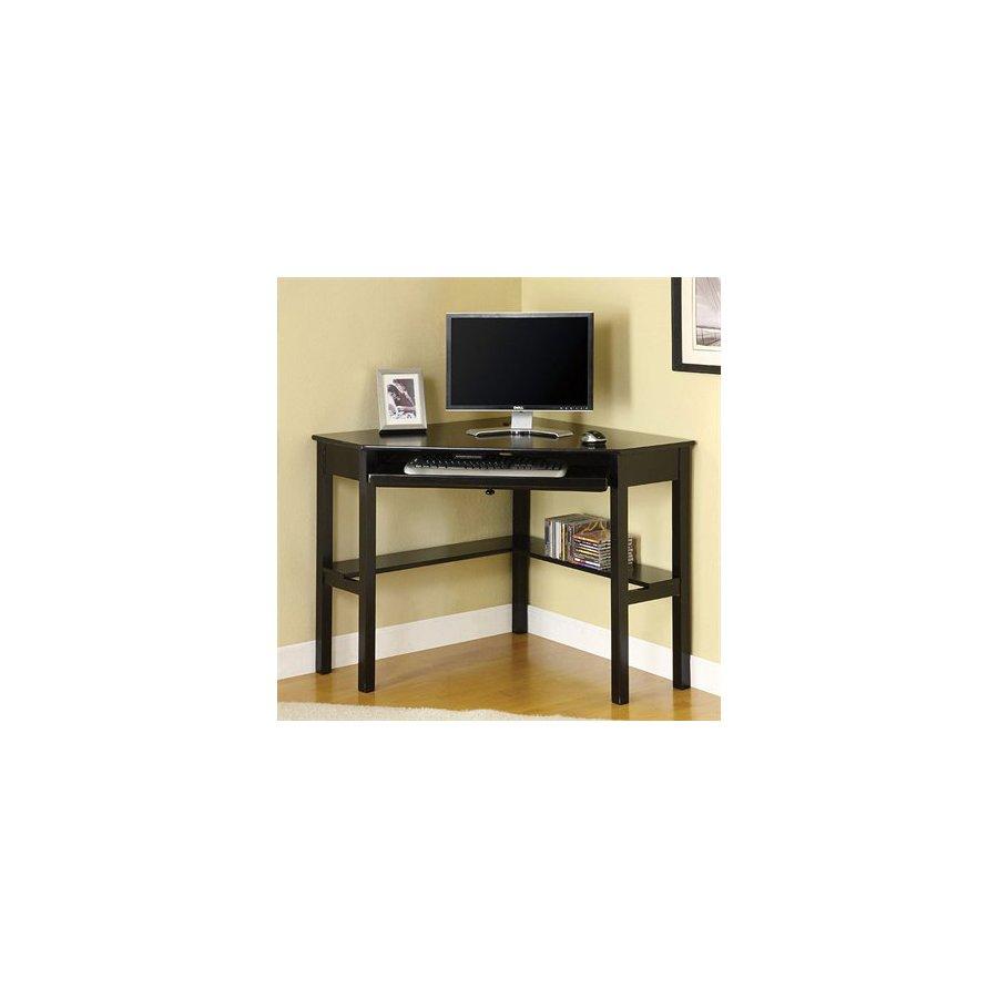 Shop Furniture of America Porto Black Computer Desk at