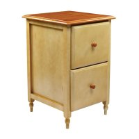 Shop Office Star OSP Designs Antique White 2-Drawer File ...