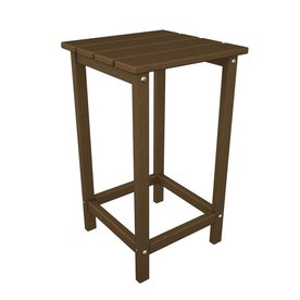 Shop POLYWOOD Long Island 15-in W x 15-in L Square Plastic End Table ...