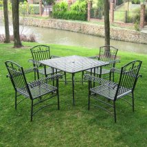International Caravan Tropico 5 Piece Wrought Iron Patio