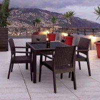 Shop Compamia 5-Piece Resin Patio Dining Set at Lowes.com