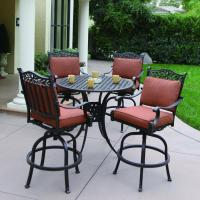 Shop Darlee 5-Piece Charleston Cushioned Cast Aluminum ...