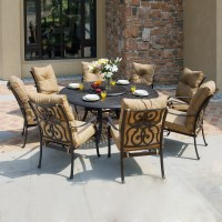 Shop Darlee 9-Piece Cushioned Cast Aluminum Patio Dining ...