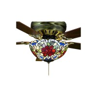 Shop Meyda Tiffany 3-Light Mahogany Bronze Ceiling Fan ...