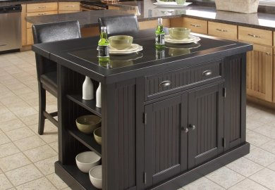 Nantucket Kitchen Island With Stools