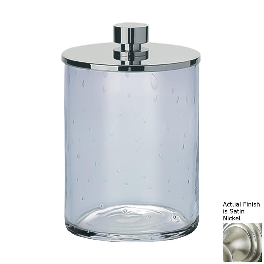 Shop Nameeks Windisch Satin Nickel Brass Bathroom Canister