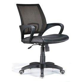 chair for office leather and a half canada chairs at lowes com display product reviews black contemporary executive