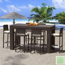 Source Outdoor 7-piece Zen Aluminum Patio Bar-height