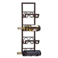 Shop Woodland Imports 4-Bottle Wall-Mount Wine Rack at ...