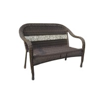 Garden Treasures Severson Wicker Patio Chair & Bench at ...